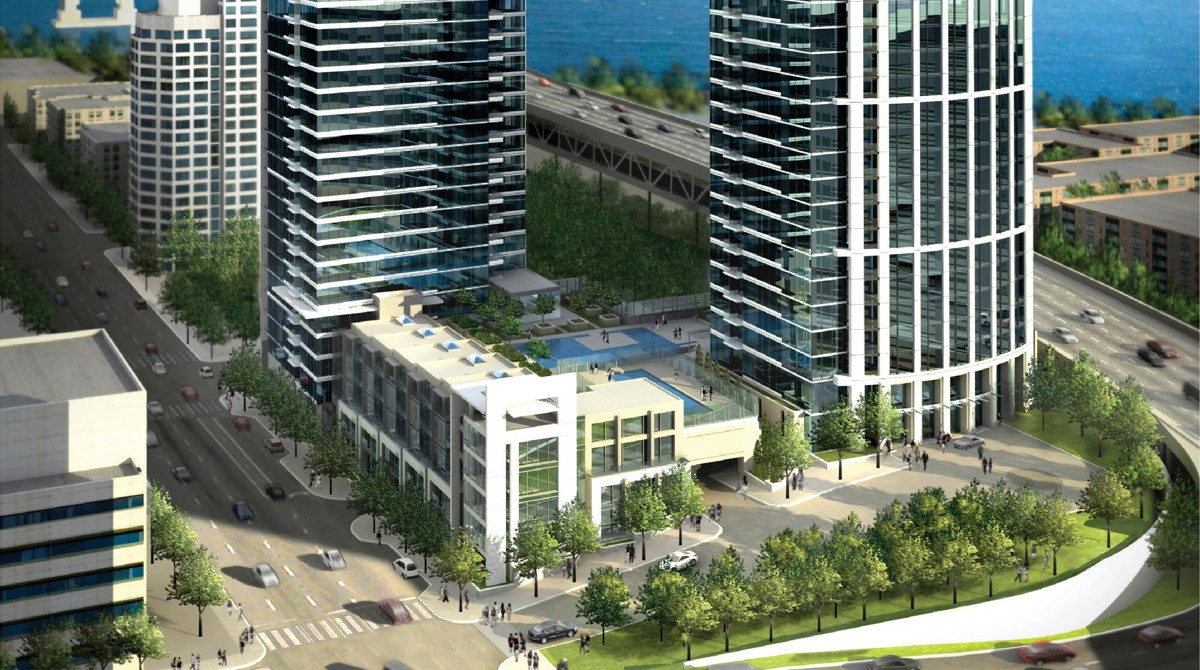 One rincon hill cb engineers an ambitious residential condominium development one rincon hill comprises a 60 story tower a 44 story tower and a 5 story podium publicscrutiny Images